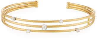 Marco Bicego 18k Three-Row Diamond Cuff Bracelet