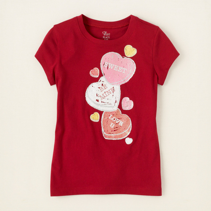 Children's Place Candy hearts graphic tee