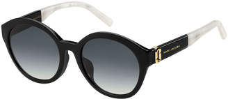 Marc Jacobs Two-Tone Round Gradient Sunglasses