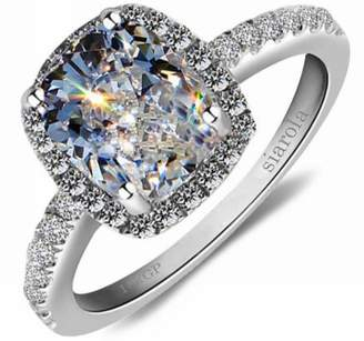 Ring Elegant 18k Gold Plated Austria Crystal Square Zircon Wedding Engagement As Gift R24 (brass-plated-gold, 7)