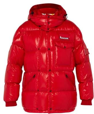Moncler 7 Fragment - Hooded Down Filled Jacket - Mens - Red