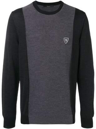 Billionaire logo patch sweater