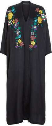 Etro Floral Embroidered Crepe Dress