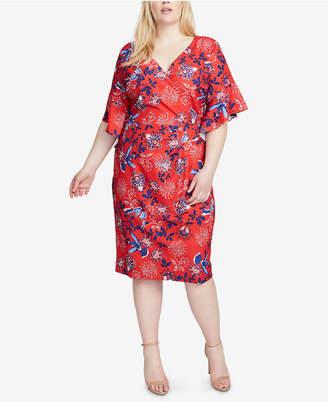 Rachel Roy Plus Size Printed Faux-Wrap Dress
