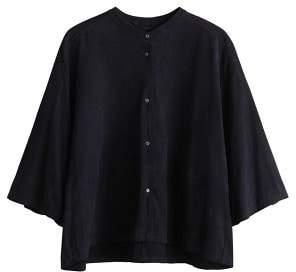 MANGO Oversize leather shirt