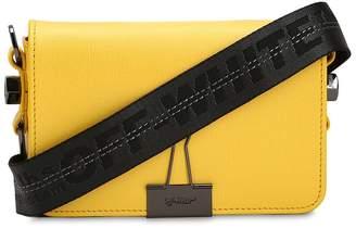 Off-White Mini Binder Clip Saffiano Leather Bag
