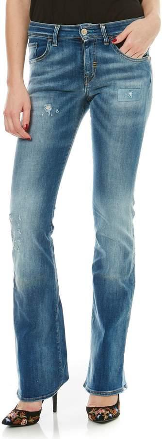 NICOLE - Hose mit Bootcut - jeansblau