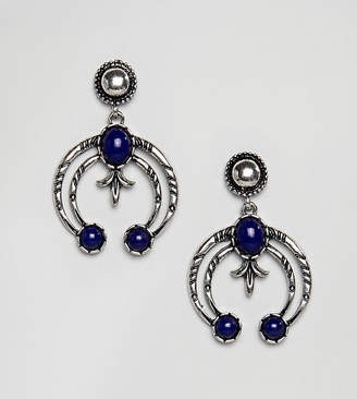 Reclaimed Vintage Inspired Drop Engraved Earrings (+)