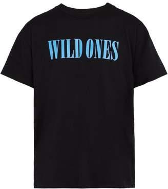 Amiri Wild Ones Cotton T Shirt - Mens - Black