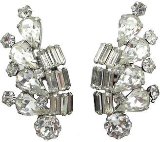 One Kings Lane Vintage Weiss Teardrop & Baguette Earrings - Thanks for the Memories