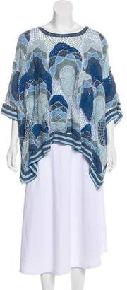 Calypso Oversize Crochet Short Sleeve Sweater