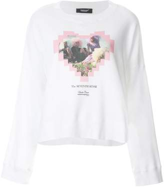 Undercover graphic love heart sweater