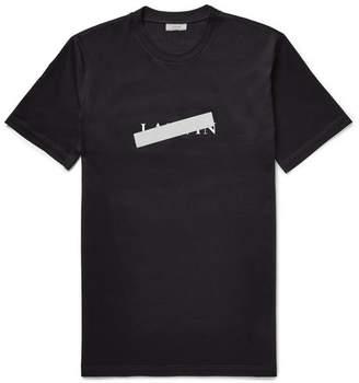 Lanvin Slim-Fit Reflective-Trimmed Mercerised Cotton-Jersey T-Shirt