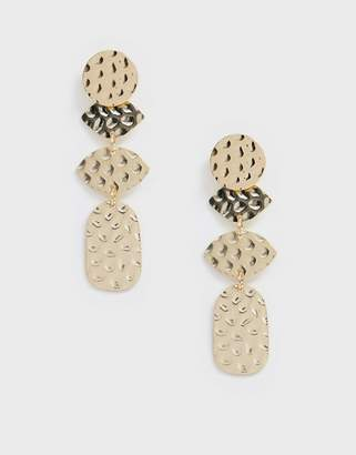 NY:LON Printed Hanging Earrings