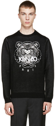 Kenzo Black Knit Tiger Sweater $550 thestylecure.com