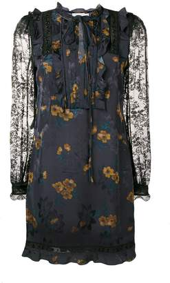 Coach lace sleeve dress