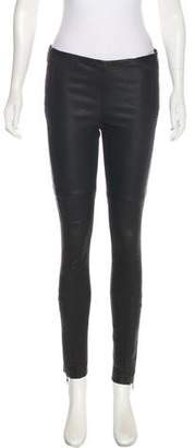 Closed Mid-Rise Leather Pants