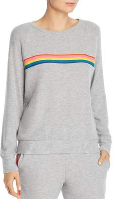 LnA Rainbow-Stripe Sweatshirt
