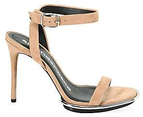 Alexander Wang Women's Cady Clay Stiletto Leather Sandals