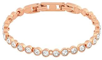 Gold Plated Stainless Steel Tennis Bracelet Made with Swarovski Elements of Length 17.5-22.5cm Extension 328902 AD2I3