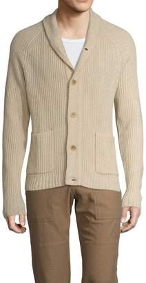 James Perse Men's Wool Stitch Cardigan