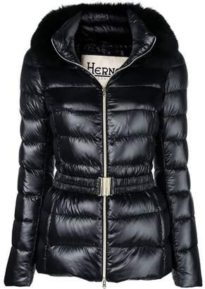 Herno fur hood puffer jacket