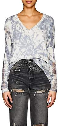 NSF Women's Teddy Distressed Tie-Dyed Cotton Sweater