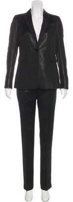 Akris Punto Metallic Button-Up Blazer