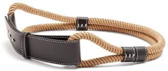 Roksanda Leather-trimmed rope waist belt
