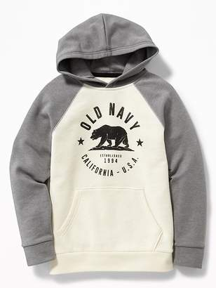 Old Navy Marled-Fleece Logo Pullover Hoodie for Boys