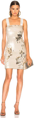 Galvan Salar Mini Dress in Nude & Light Gold | FWRD