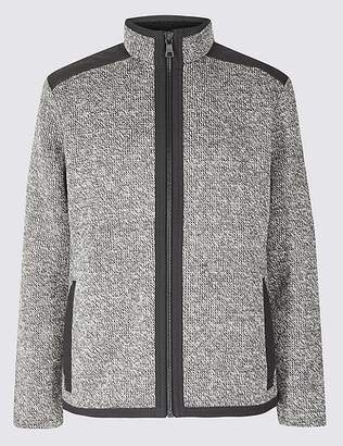 Marks and Spencer Textured Fleece Jacket