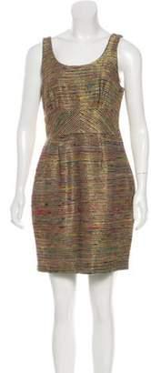Loeffler Randall Silk Mini Dress Gold Silk Mini Dress