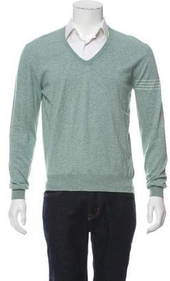 Simon Spurr Cashmere-Blend V-Neck Sweater