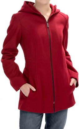 London Fog Full-Zip Car Coat - Wool Blend, Hooded (For Women) $59.99 thestylecure.com