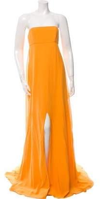 Prabal Gurung Strapless Silk Evening Dress
