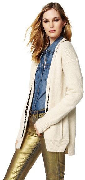 Juicy Couture Wool Dome Studded Cardigan