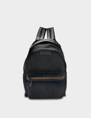 Stella McCartney Eco Nylon Falabella Go Backpack in Black Eco Leather