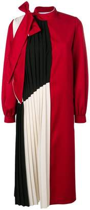 Couture Atu Body pleated panel midi dress
