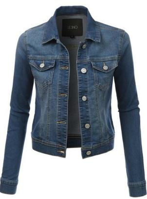 Le3no Short Jean Jacket $45 thestylecure.com