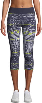 The Upside Ikat Neon Matte NYC Cropped Leggings