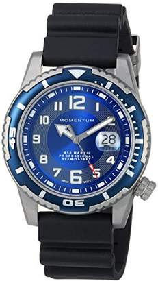 Momentum Men's 'M50' Quartz Stainless Steel and Rubber Casual Watch