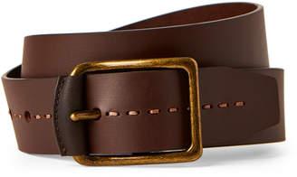 Joe's Jeans Brown Stitch Tip Leather Belt