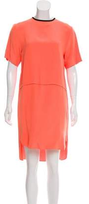 Cédric Charlier Short Sleeve Knee-Length Dress