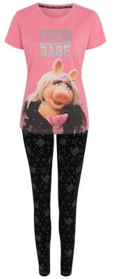 George Pink The Muppets Miss Piggy Slogan Pyjamas