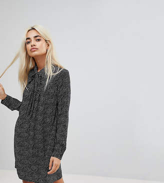 Glamorous Petite Long Sleeve Shirt Dress In Star Print