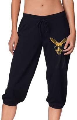 Cloud Up Kangaroo Print Pants for Women Tank Top with Capri Jogger Sweatpants