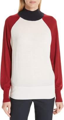 BOSS Fanarea Tricolor Wool Pullover