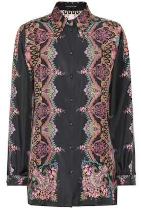 Etro Printed silk twill shirt