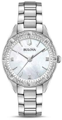 Bulova Sutton Mother-of-Pearl Dial Watch, 32.5mm
